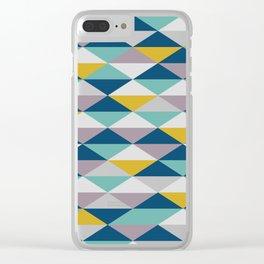 Geometric Pattern   Triangles Clear iPhone Case