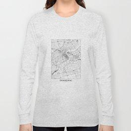 Shanghai White Map Long Sleeve T-shirt