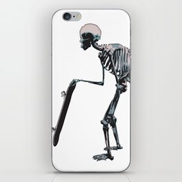 old school skateboarder or maybe just old  iPhone Skin