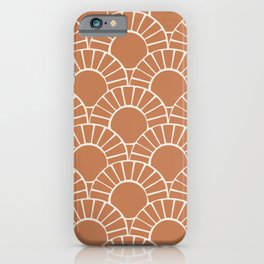 Terracotta Tile Retro Sun Mosaic by Erin Kendal iPhone Case