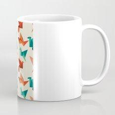 teal paper cranes Mug
