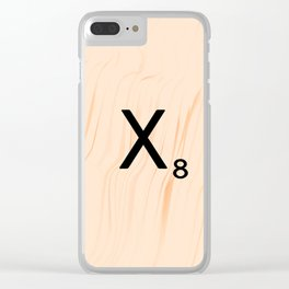 Scrabble Letter X - Scrabble Art and Apparel Clear iPhone Case