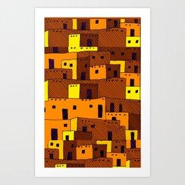 Pueblo Art Print