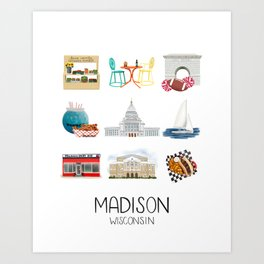 Madison Wisconsin Art Print