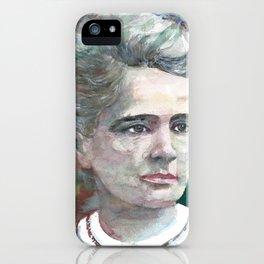 MARIE CURIE - watercolor portrait.2 iPhone Case
