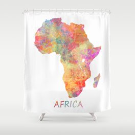Africa map 2 Shower Curtain