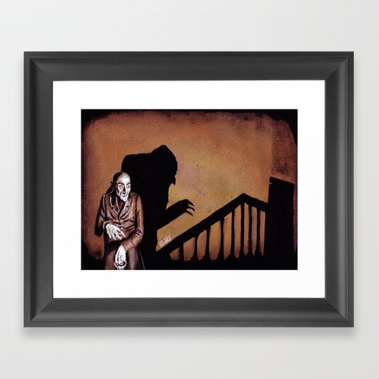 Nosferatu - A Symphony of HORROR! Framed Art Print