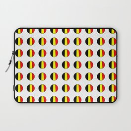 Flag of belgium 7 belgian,belge,belgique,bruxelles,Tintin,Simenon,Europe,Charleroi,Anvers,Maeterlinc Laptop Sleeve