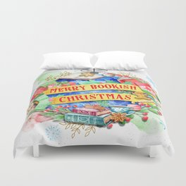 Merry Bookish Christmas Duvet Cover