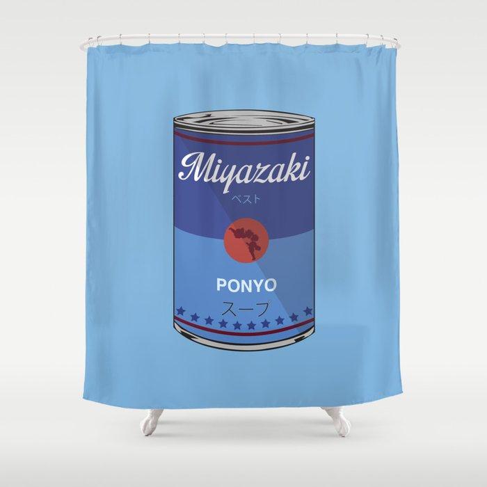 Ponyo - Miyazaki - Special Soup Series  Shower Curtain