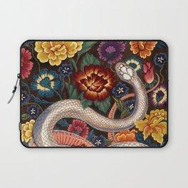 White Snake in the Autumn Garden Laptop Sleeve