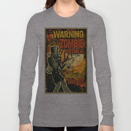 Zombi Biohazard Illustration Long Sleeve T-shirt