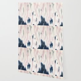 Blush Pink and Blue Pretty Abstract Wallpaper