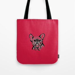 'The Grump' French Bulldog Line Art Face Tote Bag