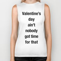 valentines Biker Tanks featuring Valentines by loveme