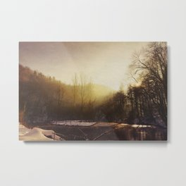 Winter At the River Metal Print