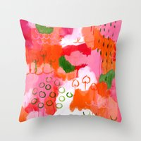 popsicle Throw Pillows featuring Popsicle by Portia Monberg