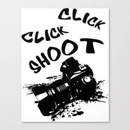 Click shoot Canvas Print