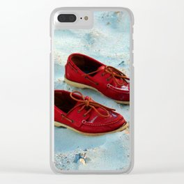 Red Boat Shoes Clear iPhone Case