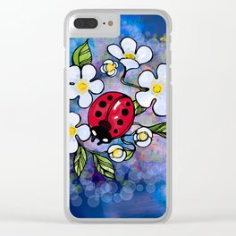 Ladybugs_1 Clear iPhone Case