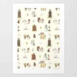 The Holy Grail Pattern Art Print