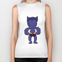 xmen Biker Tanks featuring BEAST by Space Bat designs