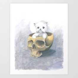 i ated all the brains Art Print