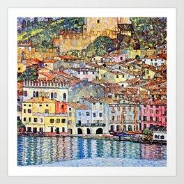 Gustav Klimt Malcesine on Lake Garda Art Print