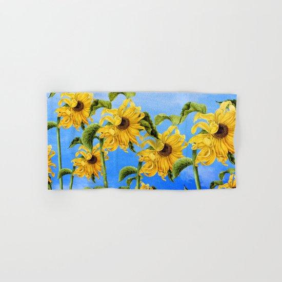 Where the Sunflowers Grow Hand & Bath Towel