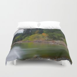 Autumn On Grizzly Creek Duvet Cover