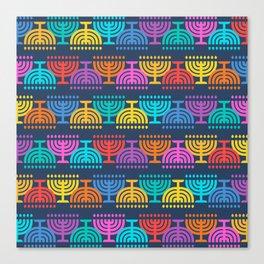 Hanukkah Menorah Pattern 2 Canvas Print