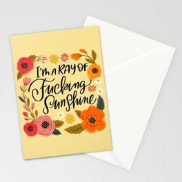 Pretty Swe*ry: I'm a Ray of Fucking Sunshine Stationery Cards