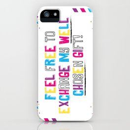 Sarcasm is coming to town!  iPhone Case