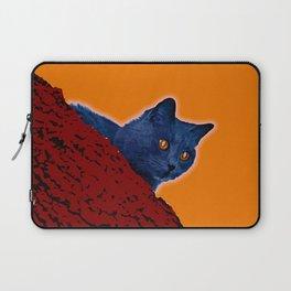 Blue Cat in Tree Laptop Sleeve