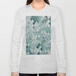 Mermaid Glitter Scales #3 #shiny #decor #art #society6 Long Sleeve T-shirt