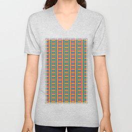 Colorama Pattern Unisex V-Neck