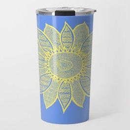 Sunflower Blue Travel Mug