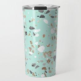 Glitter and Grit Marble Mint Green Travel Mug