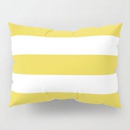 Sandstorm - solid color - white stripes pattern Pillow Sham