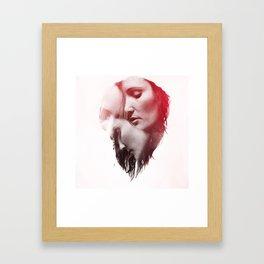 DOUBLE EXPOSURE POJECT // NICOLE Framed Art Print