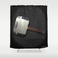 thor Shower Curtains featuring Thor by ZeebraPrint