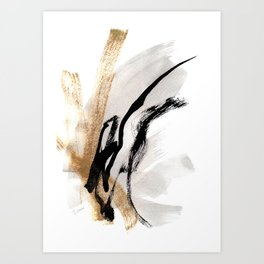 Live Your Color no.5 -  Black, White, Gold, Abstract, Modern, Minimal Painting Art Print