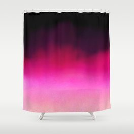 Purple and Black Abstract Shower Curtain