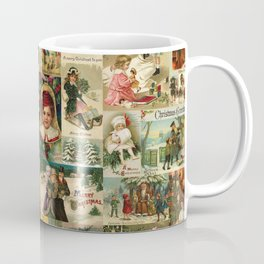 Vintage Victorian Christmas Collage Coffee Mug