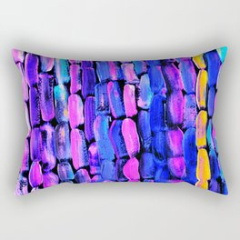 Yellow Sugarcane on Pink and Blue Rectangular Pillow