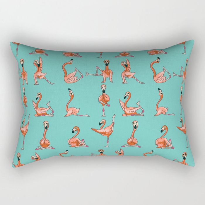 Flamingo Yoga Rectangular Pillow