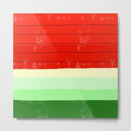 Watermelon Stripes Metal Print
