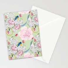 Shabby Chic Bluebirds and Roses Stationery Cards