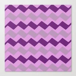 Purple Zig Zag Pattern Canvas Print