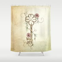 key Shower Curtains featuring Key Lucky  by LouJah